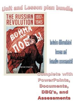 Complete Russian Revolution Unit and Lesson Plan Bundle