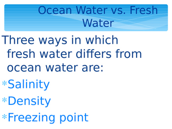 Complete Salt Water and Fresh Water Powerpoint