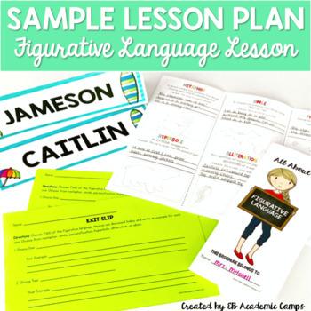 Complete Sample Lesson Plan - Grades 5-8 {Figurative Language}