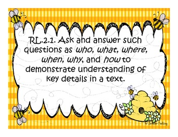 Complete Second Grade Common Core Standards (Bee Themed)