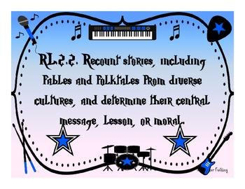 Complete Second Grade Common Core Standards (Rock Star Themed)