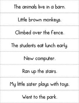 Complete Sentence Activities