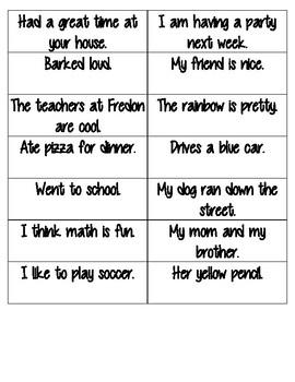 Complete Sentence Grammar Sort