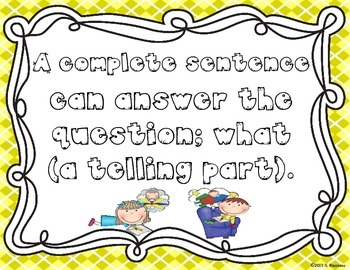 Complete Sentence Posters