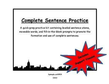 Complete Sentence Practice
