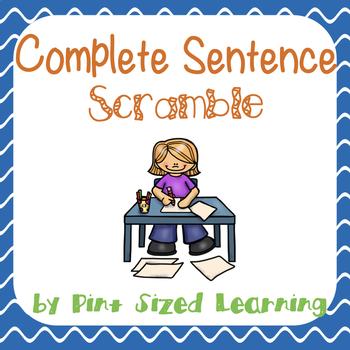 Complete Sentence Scramble