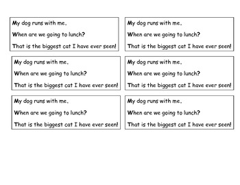 Complete Sentence Small Strip to Use on Students' Desks