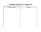 Complete Sentence Sort