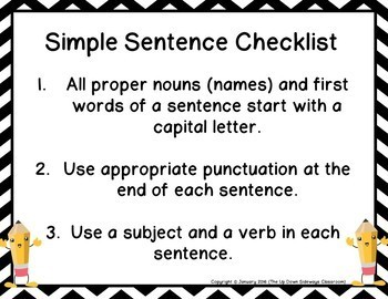 (Free) Complete Sentence Writing Rubric for Non-Language Arts Teachers