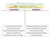 Complete Sentence and Fragment Sort
