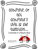 Complete Sentence or Sentence Fragment?