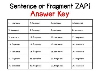 how to teach sentence fragments