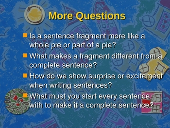 Complete Sentence versus Sentence Fragment