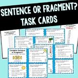 Complete Sentence vs. Fragment Task Cards
