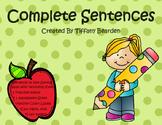2nd Grade Grammar: Complete Sentences
