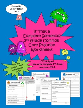 Complete Sentences: 2nd-3rd Grade Common Core Differentiated ...