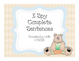 Complete Sentences (An I Spy Activity)