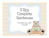 Complete Sentences (An I Spy Activity)