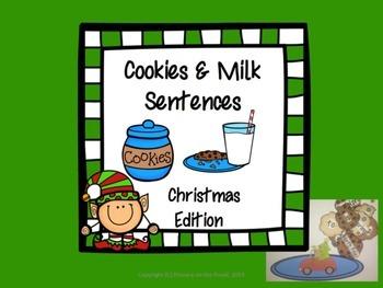 Complete Sentences- Christmas Cookies & Milk