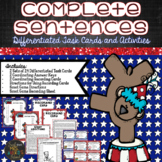 Complete and Incomplete Sentence Task Cards