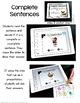 Complete Sentences Kindergarten Digital Task Cards - Paperless Resources