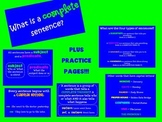 Complete Sentences Flipchart