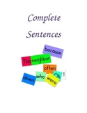 Complete Sentences Folder Game for Centers, DIY's, and Daily 5