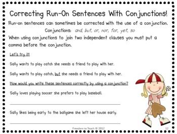 Complete Sentences, Fragments & Run-On Sentences {Common Core}