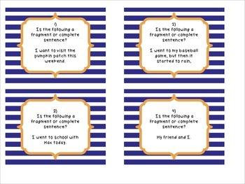 Complete Sentences & Fragments