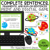 Complete Sentences, Fragments and Run-Ons Print and Digita