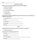 Complete Sentences Quiz