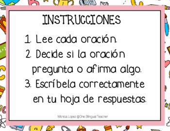 Complete Sentences SPANISH