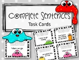 Complete Sentences Task Cards. ELA Center