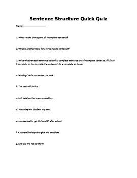 Complete Sentences vs. Fragments