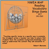 MAP TEST READING VOCABULARY GAME - Real Bingo (ALL RIT BANDS 141-260)