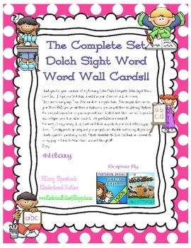 Complete Set Dolch Sight Words and More!!