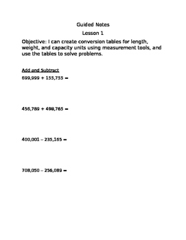 Complete Set Engage NY Module 7 Guided Notes