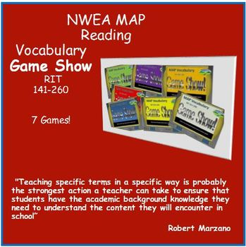 NWEA MAP Prep Vocabulay Game Show (ALL RIT BANDS 141-260)