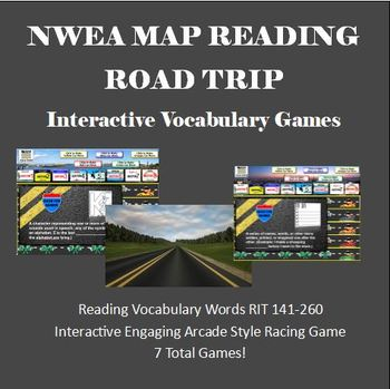MAP TEST READING VOCABULARY GAME BUNDLE- Road Trip (ALL RIT BANDS 141-260)