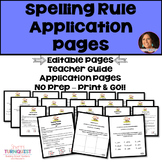 Spelling Rules Application Pages {Editable Pages Included}