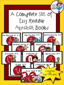 A Complete Set of Easy Reader Alphabet Books