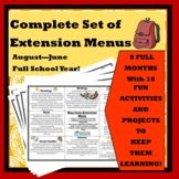 Complete Set of Common Core Extension Menus