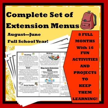 Complete Set of Common Core Extension Menus