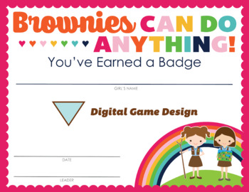 Complete Set of Girl Scout inspired Brownie Badge and Journey Certificates V2