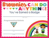 Complete Set of Girl Scout inspired Brownie Badge and Jour