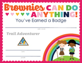 Complete Set of Girl Scout inspired Brownie Badge and Journey Certificates V3