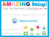Complete Set of Girl Scout inspired Daisy Badge & Journey Certificates