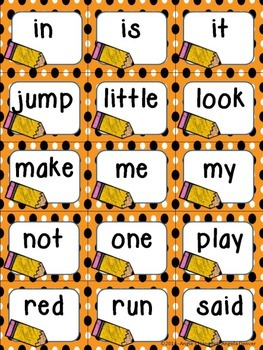 Complete Set of Sight Word Flashcards