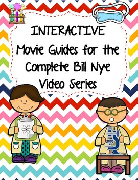 Complete Set of Video Worksheets (Movie Guides) for Bill Nye Videos - QR code