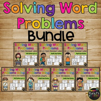 Word Problems BUNDLE Booklet {Base Ten, Number Line, Hundreds Chart}